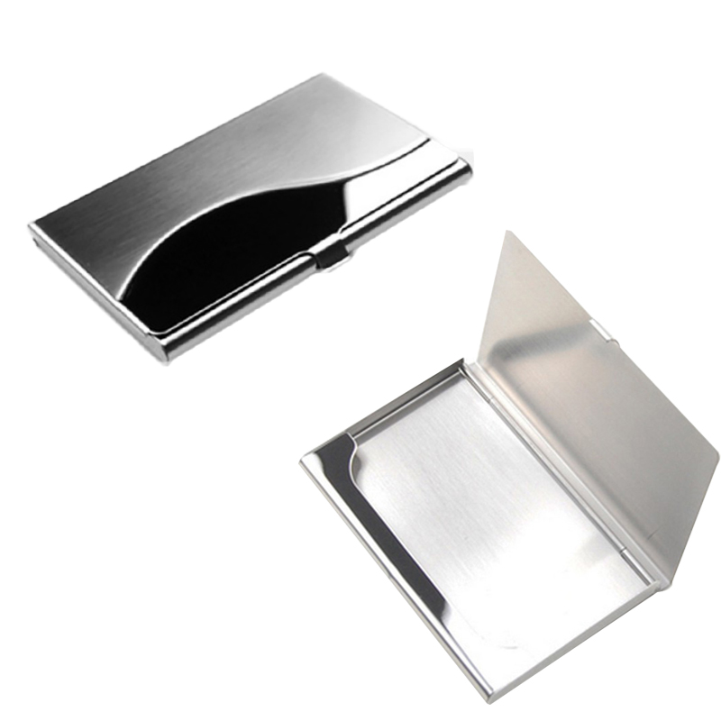 2019 New 1 Pcs Stainless Steel Card Case Advertising Promotion Metal Holder Men Business  ID Credit Card Wallet Male Card Case