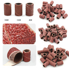 300pcs Nail Grinder Sanding Bands Apparatus for Manicure Milling Cutter Accessory 80″120″180″ Milling Drill Bits File Sandpaper