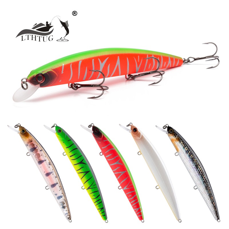 LTHTUG Pesca Peche Fishing Lure 130mm 21g Slow Floating Minnow MAGNET Jerkbait Fishing Wobblers Artificial Bait Pike Bass Perch