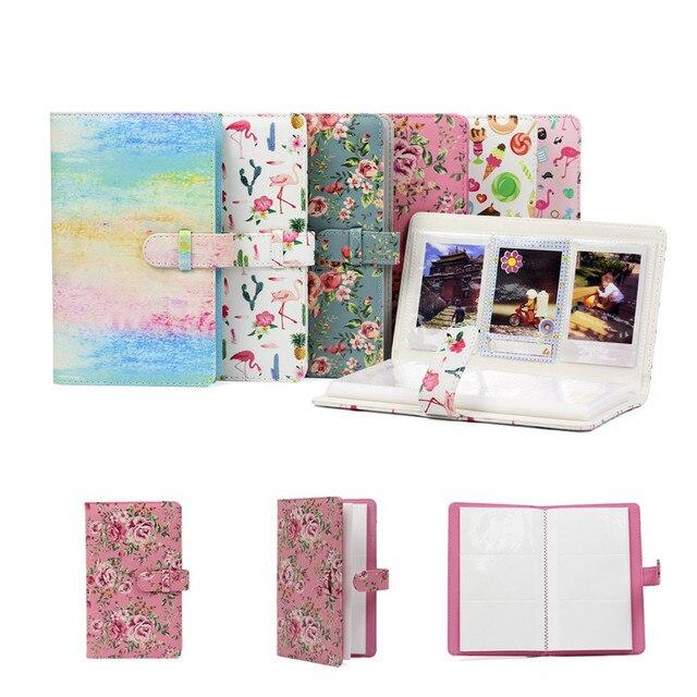 96 Pockets PU Couro Caso Da Foto Álbum de fotos para Fujifilm Instax Instantânea Mini8/9/7 s/7C /25/70/90 3 polegada Mini Álbum de Fotos do Filme