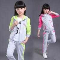 2Pcs Children Clothing Sets For Girls Autumn Kids Sports Suits BABY Girl Sportswear Jacket Pants Tracksuits For 8 10 12 14 Years