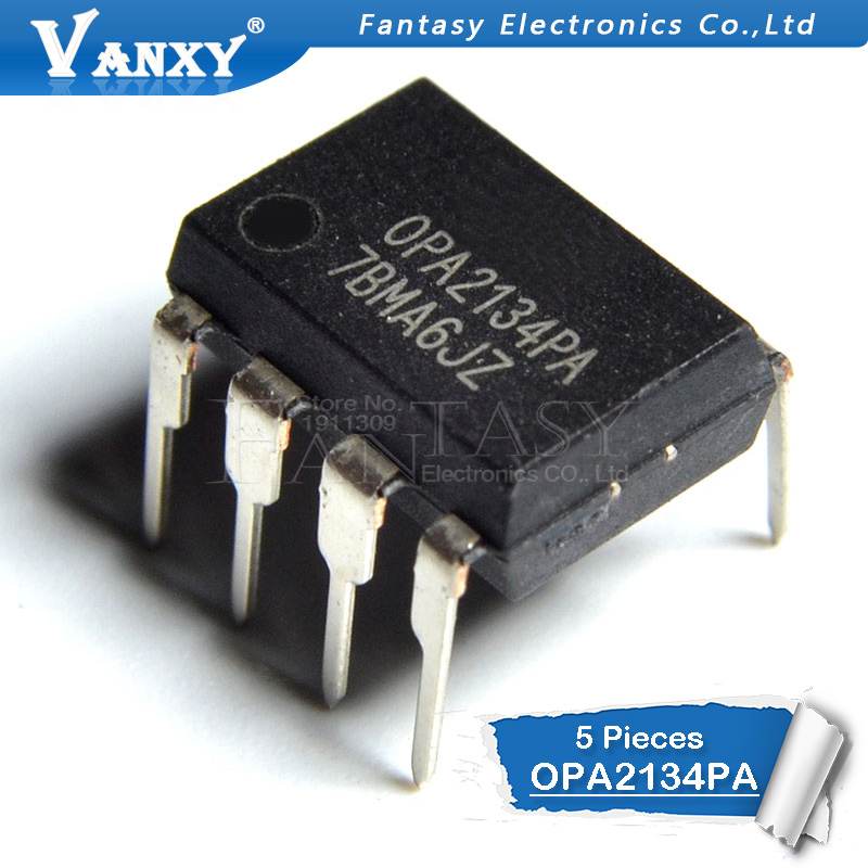 5PCS OPA2132PA OPA2134PA OPA2132 OPA2134 DIP-8 Audio Op Amp IC Chip Double Channel Amplifier New And Original IC