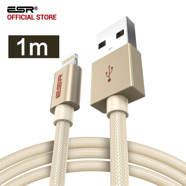 ESR MFI Certified 8-Pin 1M 3.3ft data Fast Charging lightning to Usb Cable for iPhone X 8 Plus 7 6s 6 SE for iPad Pro Air mini
