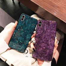Luxury Leopard Colorblock Phone Case for iPhone X XS XR XSMax 8 76 6S PluS Platinum Epoxy Solid Color Drop Protection Back Cover