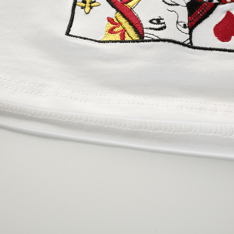 11Poker Cards Embroidery Tube Top