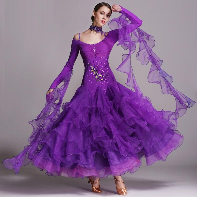 Picture of 6 Colors Ballroom Dance Competition Dresses Dance Ballroom Waltz Dresses Standard Dance Dress Modern Dance Dress Foxtrot Tango