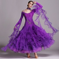 6 colors ballroom dance competition dresses dance ballroom waltz dresses standard dance dress modern dance dress foxtrot tango
