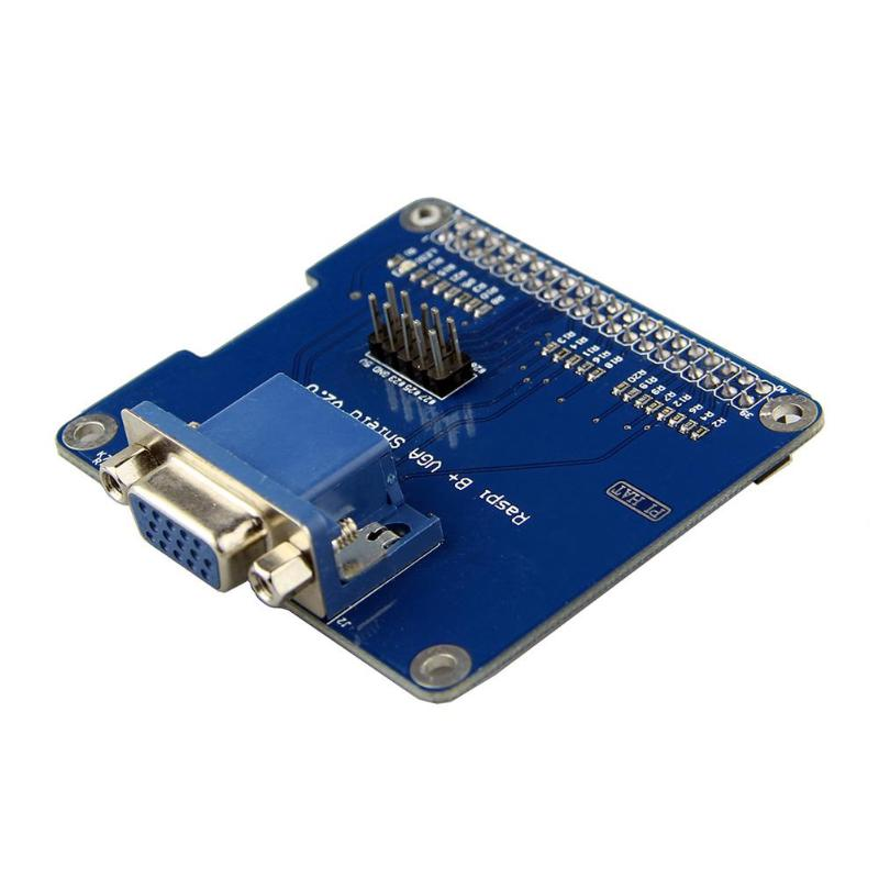 VGA Shield V2.0 Expansion Board for Raspberry Pi 3B/2B /B+/A+ Extend VGA Interface via GPIO and Remain HDMI