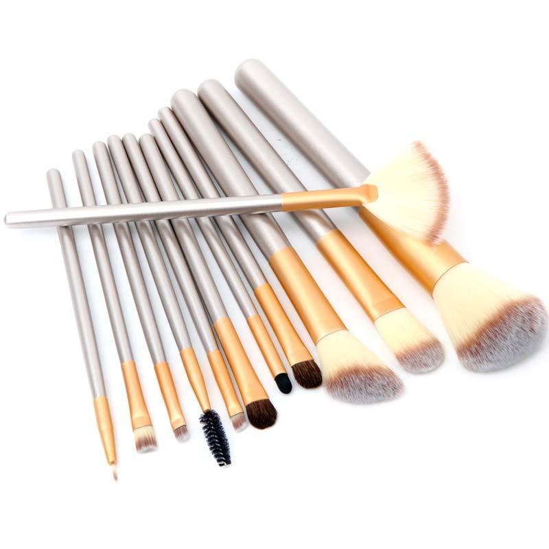 Makeup Brushes Tools 12 Pcs Professional Soft Synthetic Cosmetic Foundation Powder Blush Eyeliner Brushes Set HB88