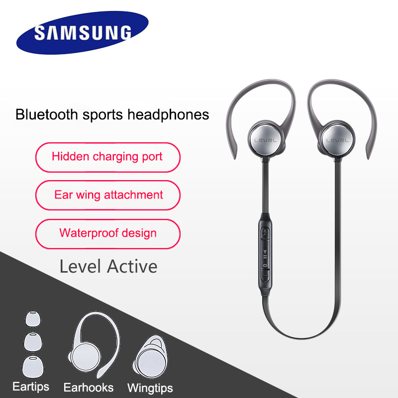 Samsung Level Active Mobile Phone In Ear Earphone In a Black and White Wheat S8 7