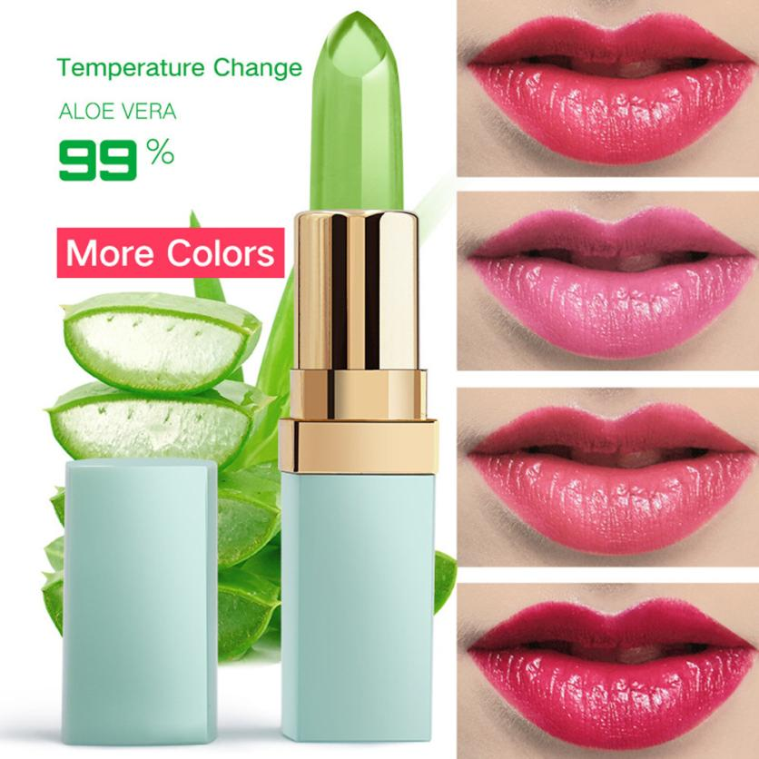 12 colors Temperature color change lipstick Women Beauty Bright Crystal Jelly Lipstick Magic Lip Balm Makeup 2U0125