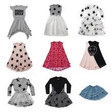 2019 Nunu Детские платья для девочек красивое платье принцессы Modis для девочек, детское летнее школьное платье для отдыха