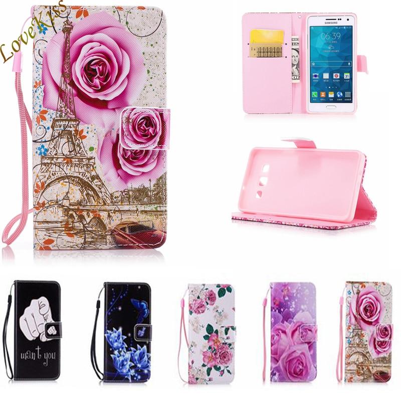 Caja Del Teléfono billetera de Cuero Para Samsung Galaxy Core 2 A3 A5 J1 J5 2015