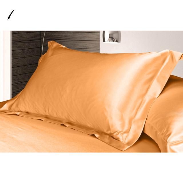 High Quality Double Face Envelope Pure Emulation Silk Satin Pillowcase Single Pillow Cover Multicolor 48*74cm #75280
