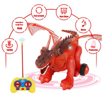 MUQGEW Action Toys Figures Simulated Electric dragon Light-up With HD Projection Realistic Dragon RC Toy Model birthday gift