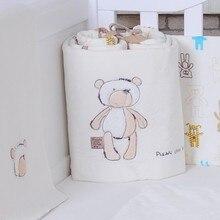 185 см длина цельный мультфильм плюшевые детские постельные принадлежности кроватки бамперы Детская безопасность детские постельные принадлежности защита