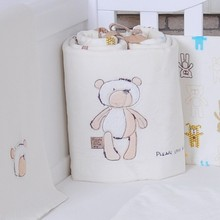 185cm Length One Piece Cartoon Plush/Cotton Baby Bedding Crib Bumpers Safety Baby Kids Bedding Protection Bumpers