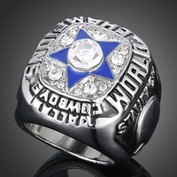 Vintage 1971 Replica Super Bowl Rings Dallas Cowboys Retro Punk Pentagram Cameo Mens Ring J02028
