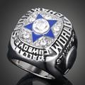 Sports Memorial Victory fans Rings Vintage 1971 Replica Super Bowl Rings Dallas Cowboys Retro Punk Pentagram Cameo Rings J02028