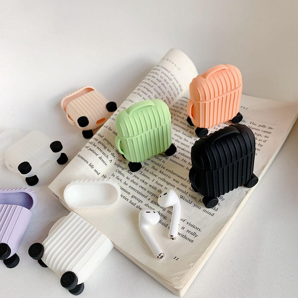 Cute Suitcase Soft Silicone Dustproof Protective Case Cover for Apple Airpods african elephant