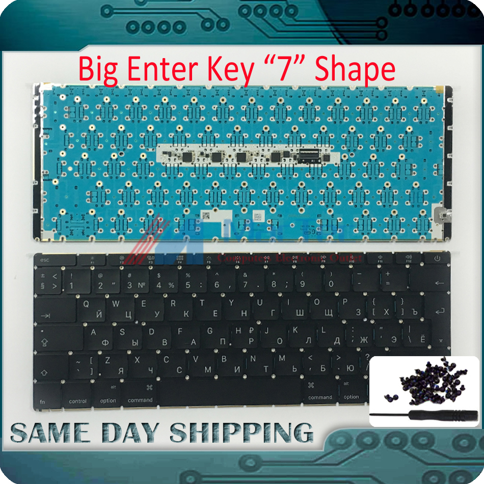 2015 Genuine New A1534 Russian Russia RU Layout Keyboard & LED Backlight Backlit for Apple MacBook 12 Core M Keyboard Russian new ru laptop keyboard for samsung np700z5a 700z5a np700z5b 700z5b np700z5c 700z5c ru russian layout without backlight