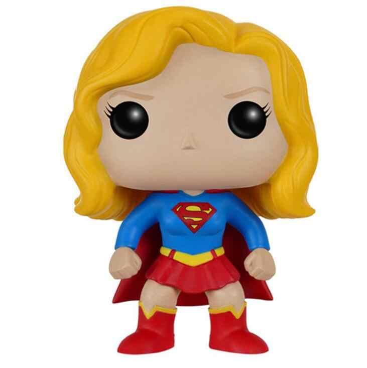 Funkos Pop аниме Justice Alliance Supergirl Коллекционная модель детские игрушки экшн-фигурка из фильма кукла мальчик девочка игрушка
