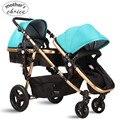 Alta qualidade carrinho de bebê carrinhos de bebê de casal 0-36 M bebê dormindo e assento Frete grátis MCS101