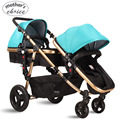 High quality baby stroller double baby strollers 0-36M baby sleeping and seat Free shipping MCS101