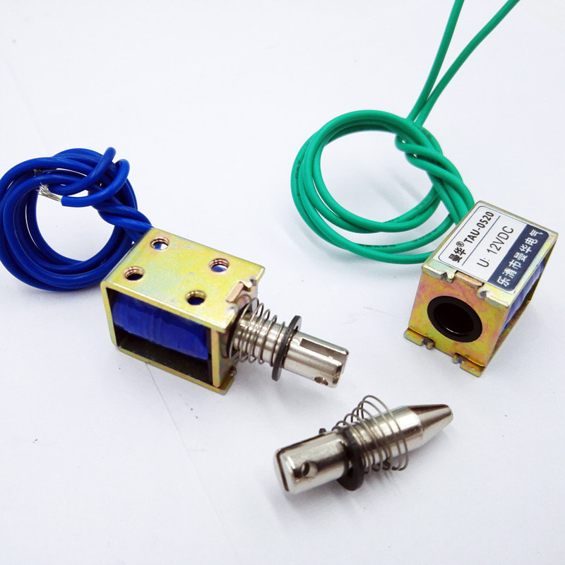TAU-0520 DC 12V 24V push&pull Type Frame electromagnet  travel distance 10mm Keepping Force 400g Solenoid tau 0826 dc 6v 12v24v keeping force 16n 20n pull