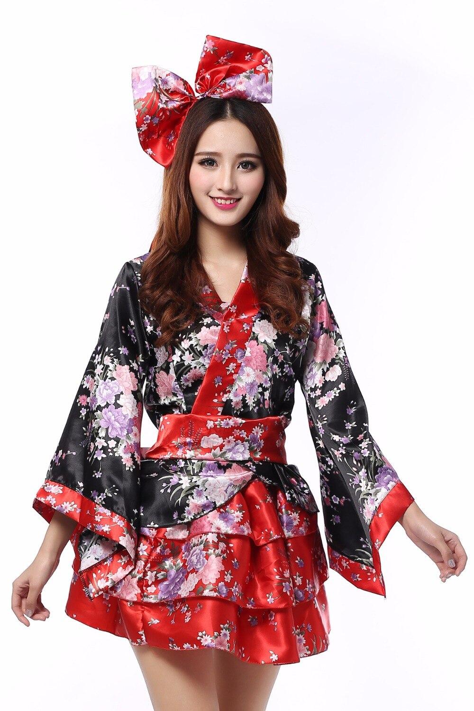 Black butts girls geisha asian costume clearance