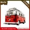 LEPIN 21001 1354cs Technic Series Creator Volkswagen T1 Camper Van Model Building Kits Minifigure Bricks Toys