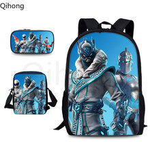 Qihong School bag Set New Arrivals Fashion Backpack School Bags for Boys Schoolbags for Teens Printing School bag pack(China)