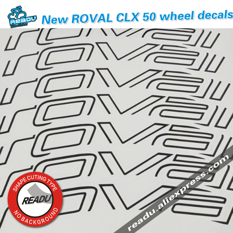 New ROVAL CLX 50 wheel Road bicycle stickers Carbon Knife Wheel Group Stickers suit for 50mm rim depth for two wheel decals