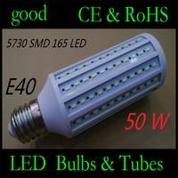 50W LED Bulb E40 LED Light 5730 SMD 165 LED Corn Lamp High Brightness AC110V 220V