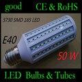 50 W lâmpada LED E40 DIODO EMISSOR de Luz 5730 SMD 165 LED Milho de Alta luminosidade da lâmpada AC110V/220 V Lâmpada Milho Home Indoor iluminação de rua Ao Ar Livre