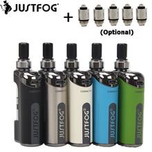 מקורי JustFog קומפקטי 14 ערכת Compact14 אלקטרוני סיגריה תיבת MOD 1500mah סוללה Vape עם 1.8ml Q14 Clearomizer טנק