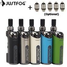 Original JustFog Compact 14 Kit Compact14 Electronic Cigarette Box MOD 1500mah Battery Vape with 1.8ml Q14 Clearomizer Tank