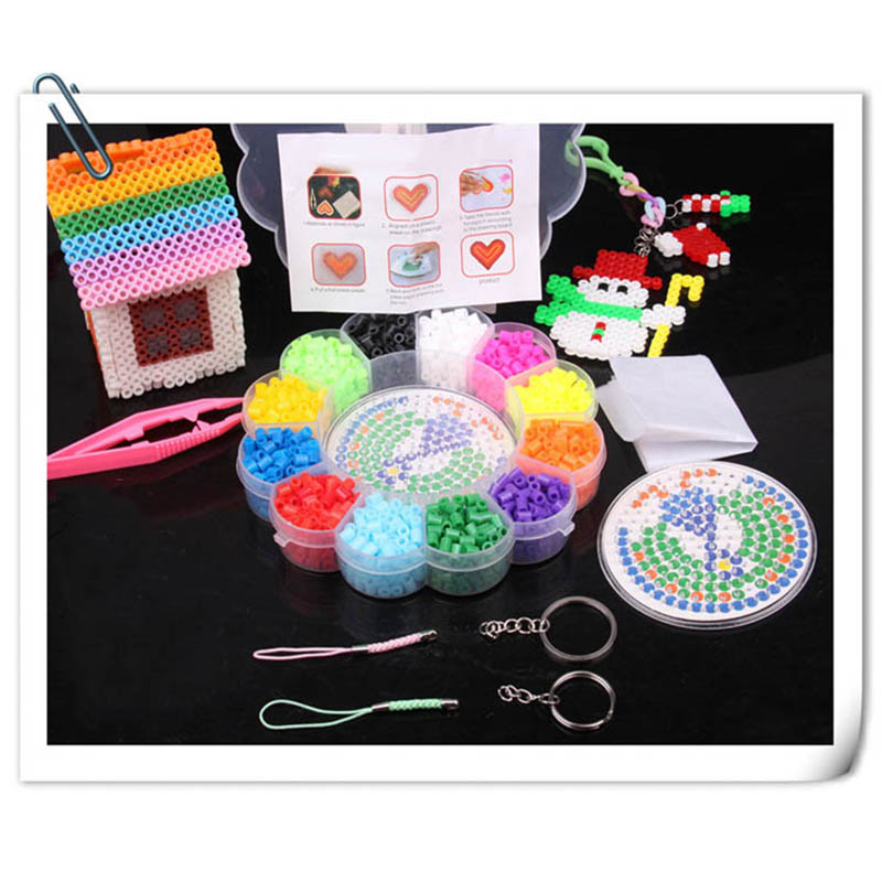 1 Set Of <font><b>Puzzle</b></font> Educational Toys New Beads 12 Colors Fuse Beads <font><b>1500</b></font> <font><b>Pieces</b></font> Of <font><b>Puzzle</b></font> Handmade Handmade <font><b>Puzzle</b></font> Children Toys image