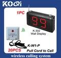 Sistemas de campainha receptor K-302 exibição e K-W1-P chamada Hospital nurse sino serviço