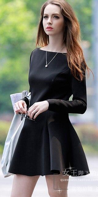 d07c51f8ea Vestido feminino básico de manga longa