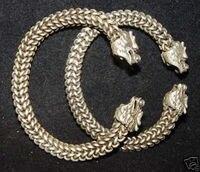Par Chinês dragão cuff Bangle pulseira decoração de Prata Tibetano Miao prata palavra Atacado bronze prata-jóias