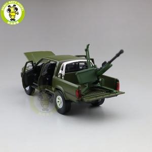 Image 5 - 1/32 Jackiekim Hilux Pick up Truck with Anti tank Gun Diecast Metal Model CAR Toys kids children Sound Lighting gifts