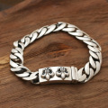 Wholesale silver jewelry S925 star with a Korean male silver fine curved personality retro brand double Lily Bracelet