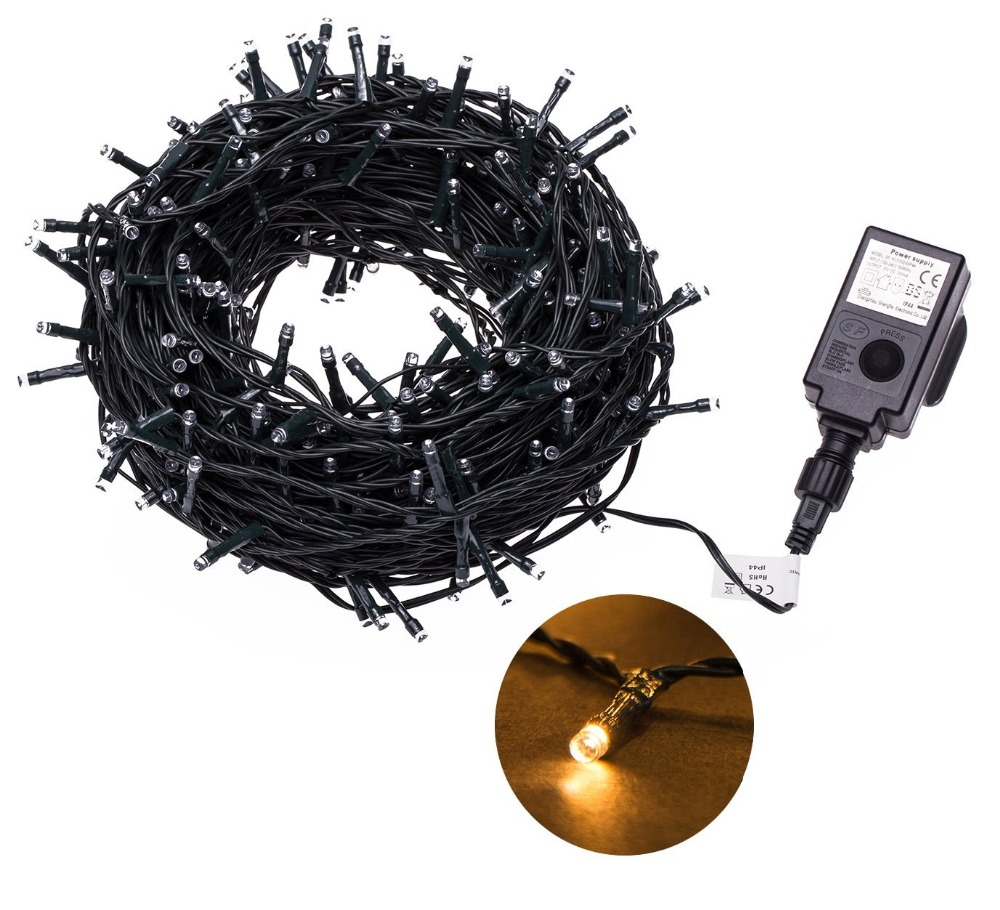 Whole String Led Lights Out : 24V Safe Voltage Green Cable 30M 200 LED String lights LED Fairy Lights Ideal for Christmas ...