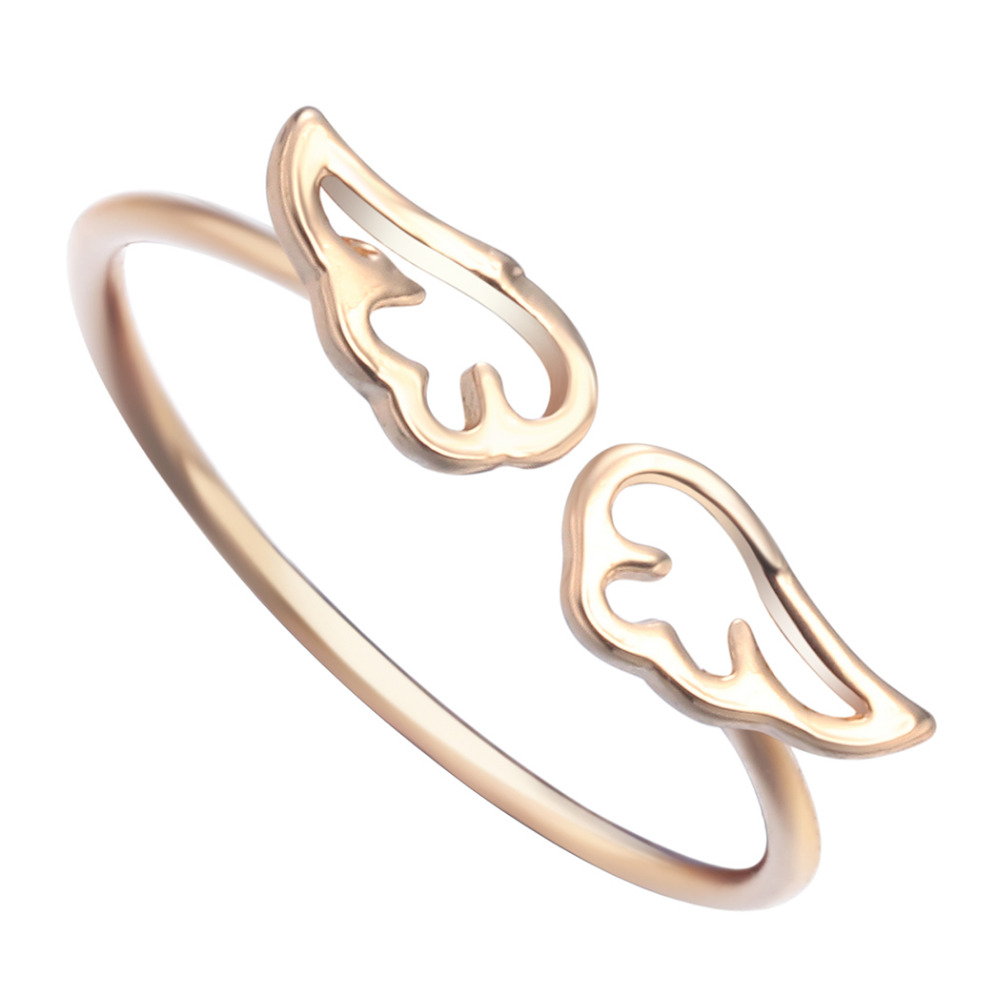Little Angel Wings Ring Jewelry Geometric Nautical Everyday Ring Gift  Fashion For Women Girls Engagement Ring