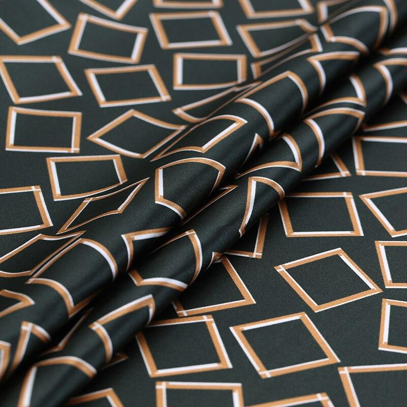 Newlower silk printed fabric silk fabric 19mm silk stretch satin fabric 1108cm wide dress shirt diy cloth hot wholesale-in Fabric from Home & Garden    1