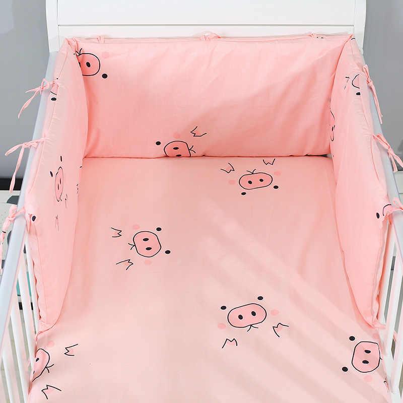 1pc Cartoon האריה תינוק מיטת פגוש להסרה כותנה יילוד עריסה פגוש מיטת תינוק בטוח גדר קו מיטת תינוק מגן כרית כרית