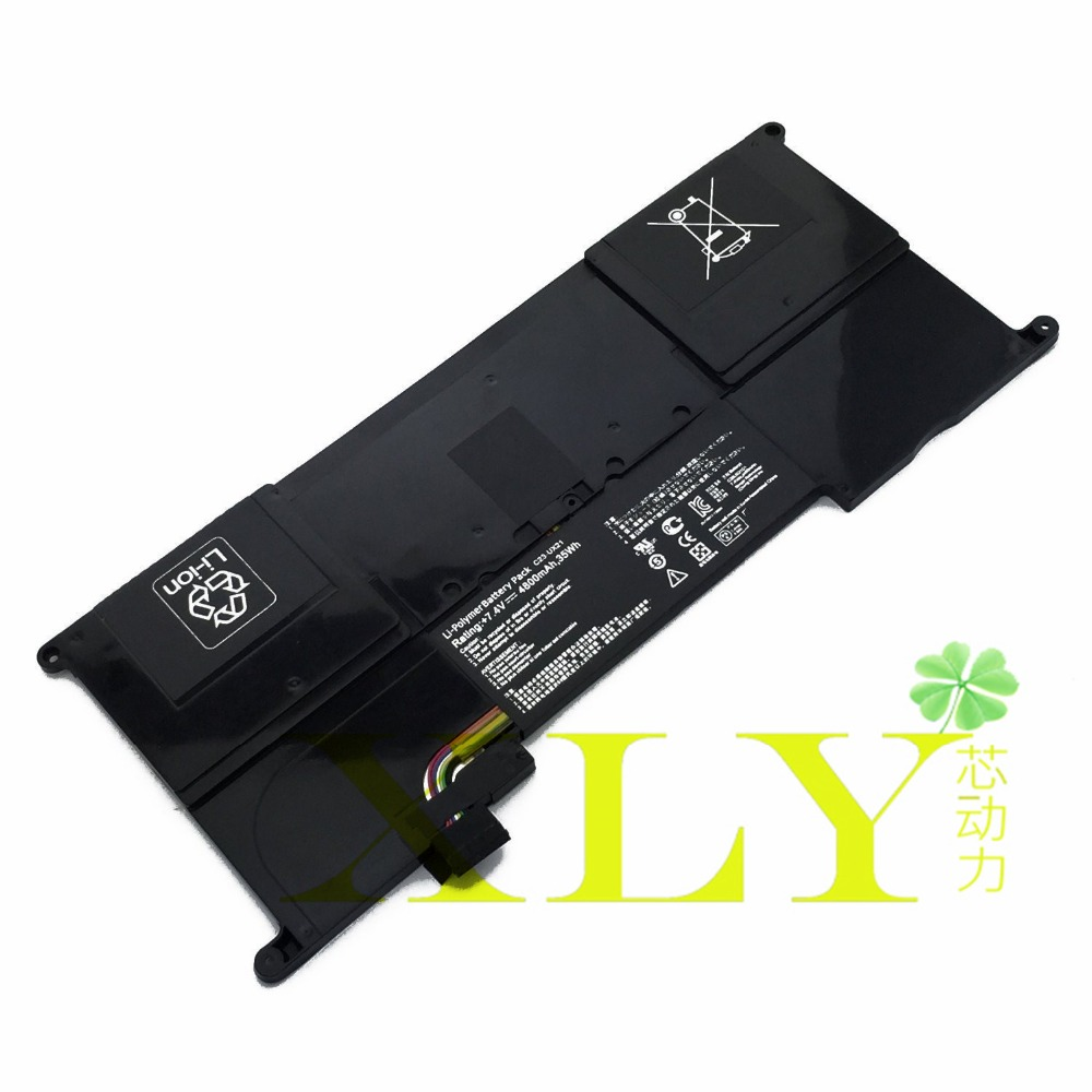 ФОТО  7.4V 4800mAh 35Wh Battery for Asus Zenbook UX21 UX21A UX21E C23-UX21 Ultrabook Series