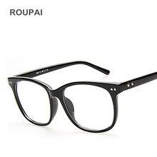 ROUPAI Claro Quadro Vidros ópticos para As Mulheres Homens Moda falso Óculos de Miopia Armações de óculos simples Oculos espetáculo G8081