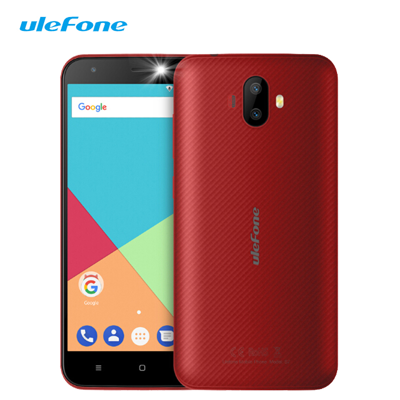 Ulefone S7 Smartphone 5.0 Inch Android 7.0 Cheap Touch Dual Sim Mobile Phone MTK6580 Quad Core 1G+8G 8MP 3G Unlocked Cell Phones smartphone